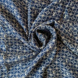 Louis Vuitton Blue Monogram Silk Scarf
